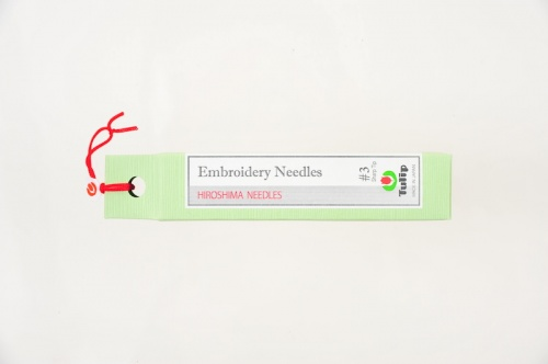 Embroidery Needles, Sharp Tip #3